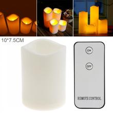 10 x 7.5CM Flameless LED Candle Light with Remote Home Tea  for Weddings Christmas Festival Celebration Gifts hot sale