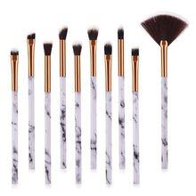 1 Set of 10 Makeup Brush Sets, Marbling Eye Makeup