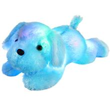 Plush-Toy Night-Light Gifts Stuffed Soft LED Glow Dog for Kids on Christmas-18-Inch Blue