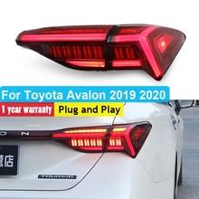 цена на Car Styling Tail Lamp for Toyota Avalon 2018 2019 2020 LED Tail Light Rear Dynamic Turn Signal Lamp Brake Reverse Lights