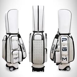 Bolso retráctil de la aviación del Golf de Pgm bolso portátil del estándar del Golf del cuero de la Pu paquete del viaje de la capacidad grande del Golf con las ruedas
