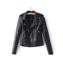 Новые модные женские демисезонные куртки из мягкой искусственной кожи женские мотоциклетные молнии байкерские синие пальто черная верхняя одежда Лидер продаж