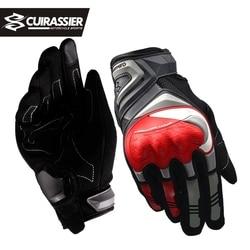 Cuirassier Touchscreen Night Reflective Motorcycle Full Finger Gloves Protective Racing Biker Riding Motorbike Moto Motocross