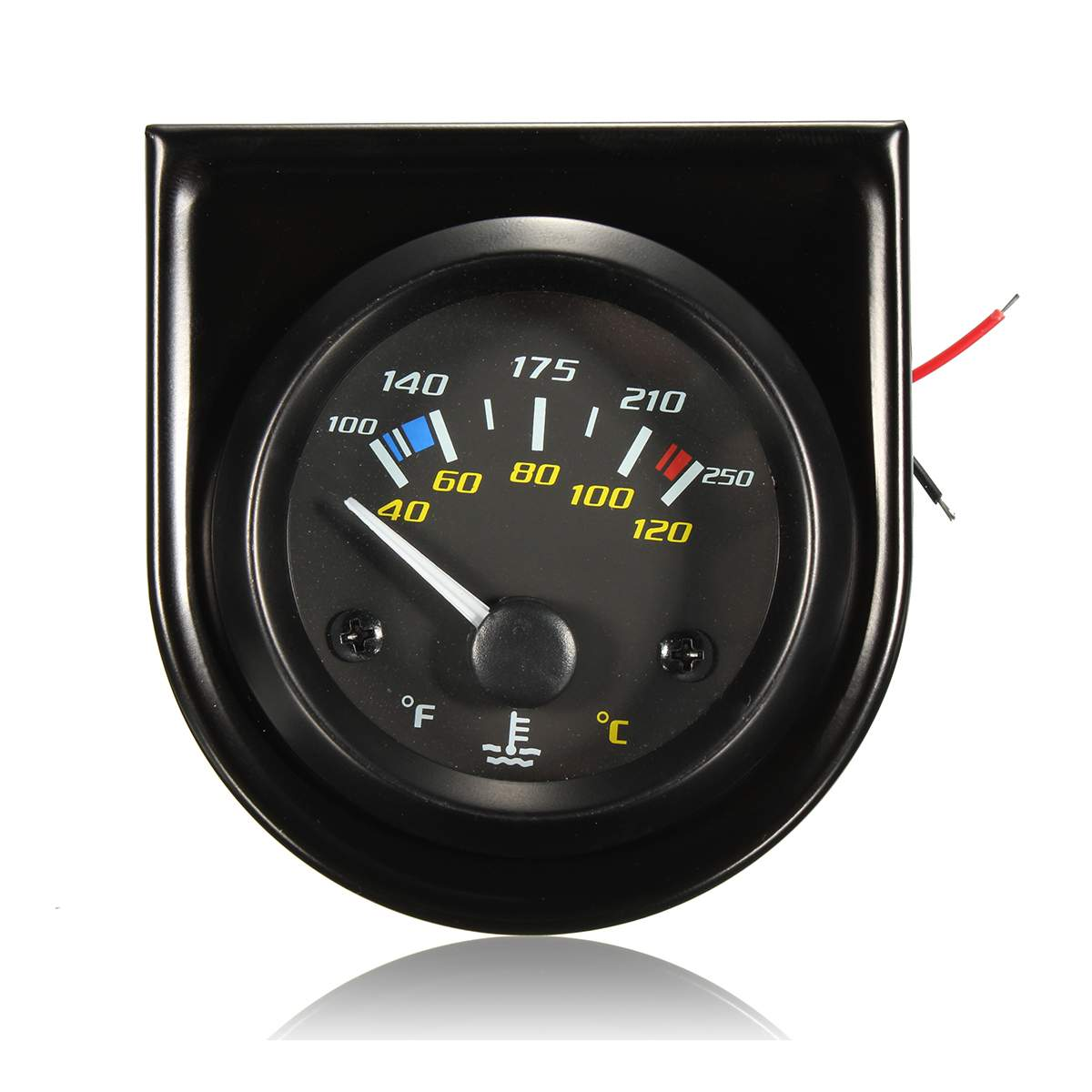 puntero de temperatura del agua del coche 12/V Instrumentos de coche Medidor de temperatura de 40 a 120,/LED blanco 5 cm,/universal