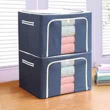 Storage-Box Moisture-Proof-Toys Case Collecting Folding Non-Woven Fabric with Zipper
