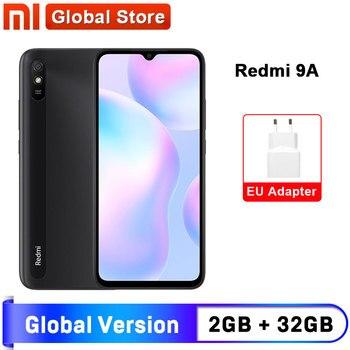 Перейти на Алиэкспресс и купить Глобальная версия Xiaomi Redmi 9A мобильный телефон 2 ГБ 32 ГБ ROM MTK Helio G25 Octa Core 6,53 дюйм5000 мАч 13MP камера смартфон
