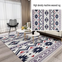 Nordic style INS popular high density  machine weaved carpet, big size decoration geometric bedroom area rug