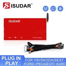 ISUDAR DA06 coche amplificador DSP para VW/SKODA/asiento/Ford/Audio/BMW/OPEL/Peugeot Auto Procesador Audio Digital 1200W BT AB clase