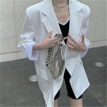 Черный белый костюм куртки для женщин осень новинка повседневный