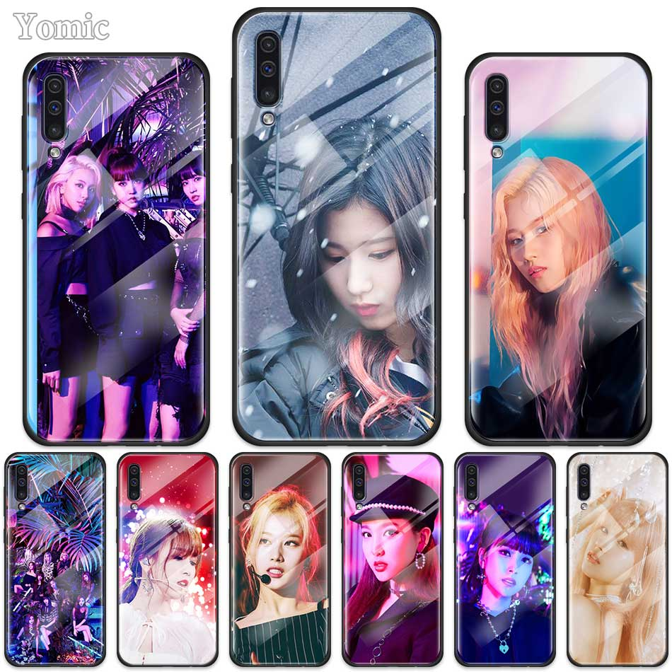 Twice Mina Momo <font><b>Kpop</b></font> Case for <font><b>Samsung</b></font> Galaxy A50 A70 A10 A20 A30 S J4 <font><b>J6</b></font> <font><b>Plus</b></font> M30s Tempered Glass Phone Cover Soft Edge <font><b>Coque</b></font> image