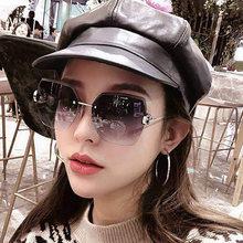 Женские солнцезащитные очки без оправы Винтажные Солнцезащитные