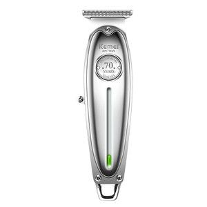 Image 1 - All metal professional hair trimmer beard cord cordless hair clipper men grooming trimer electric hair cutting machine haircut