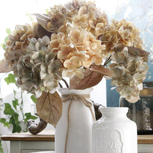 Artificial Flowers 4pcs/lot Hydrangea Oil Painting Style Wedding Decor Fake European Simulation Home