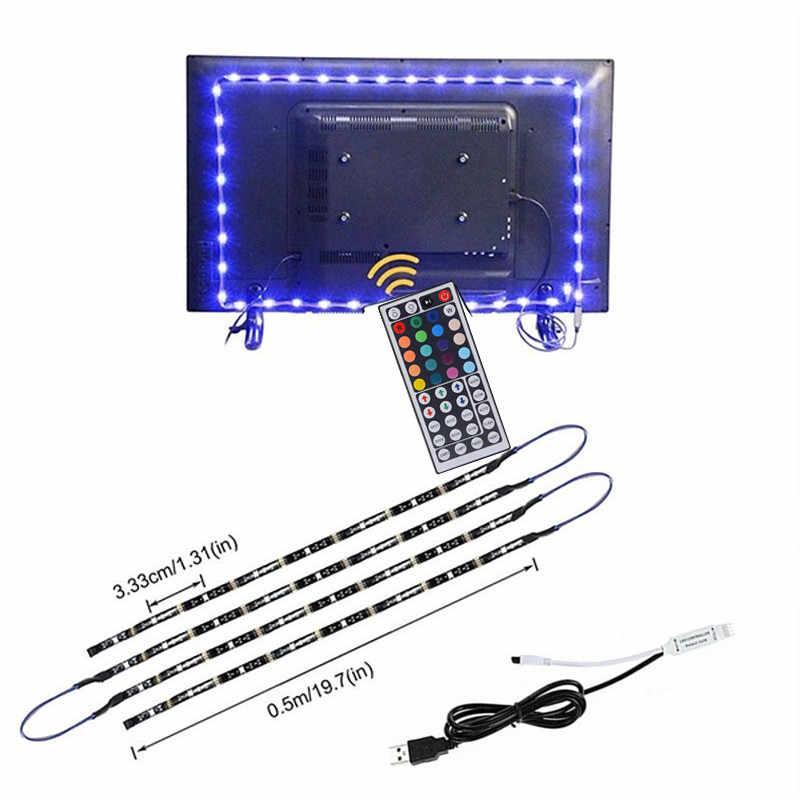 DC5V USB Светодиодная лента для ТВ рабочего стола водонепроницаемый гибкий 30