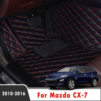 Car Floor Mats For Mazda CX-7 CX7 2016 2015 2014 2013 2012 2011 2010 Auto Accessories Leather Carpets Protect Covers Decoration image