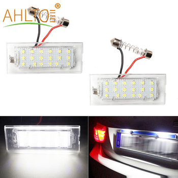 2PCS Car LED Number License Plate Light For All Car E53 X5 1999-2003 E83 X3 03-10 NJ88 Trunk Bulbs 18leds 6000K 3528smd 12V Lamp image