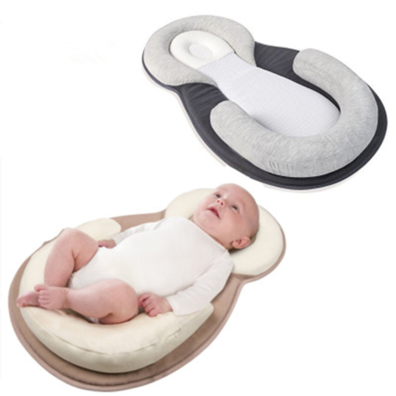 Portable Baby Bed Stereotype Infant Crib Nursery Travel Folding Anti-vomiting Pillow Sleep Positioning Wedge Anti-Reflux Cushion