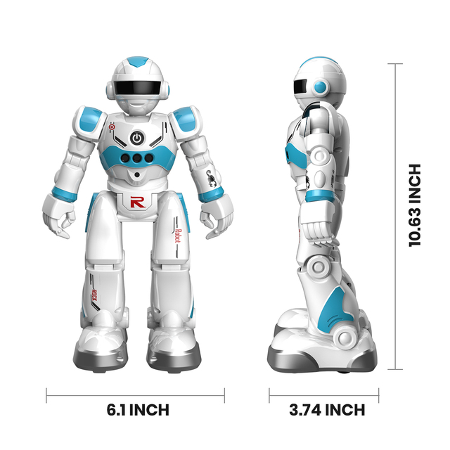 DEERC RC Robot Toy for Kids,Smart Gesture Sensing Remote Control Robot,Great Toys Gift for 3-8 Year Old Boys Girls 3
