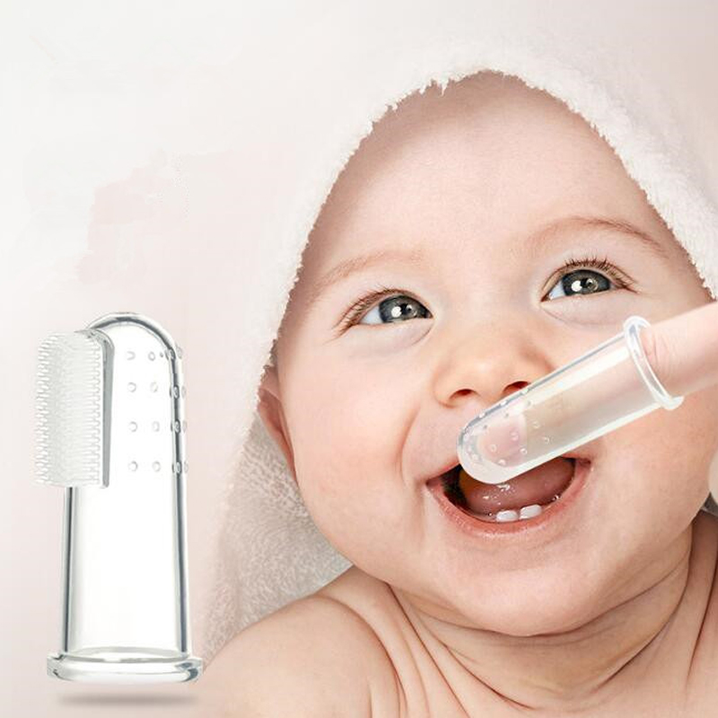 1pc Mock Bathroom Toy For New Baby Finger Toothbrush Simulation Toys Kids Silicone Baby Teether Baby Tooth Cleaning Toys