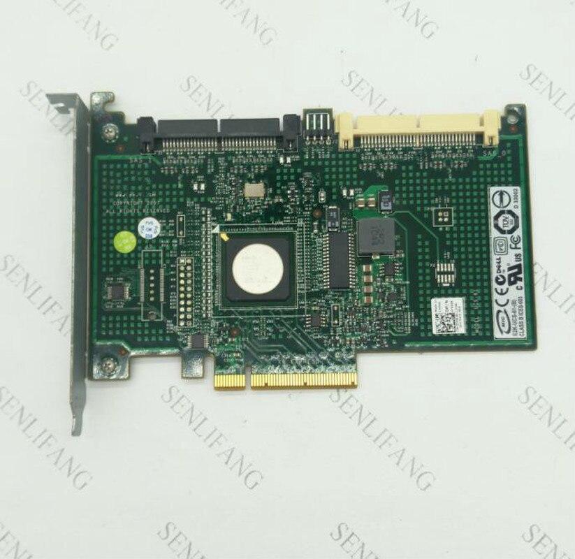 CR679 JW063 YK838 Adapter For DELL PERC 6IR R610 R710 8 Ports SATA SAS  HDD RAID Controller Card Host Card  Well Tested