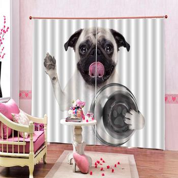 dog curtains Luxury Blackout 3D Window Curtains For Living Room Bedroom Customized size Drapes Cortinas