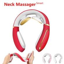 Inteligentny elektryczny masażer szyi i ramion ulga w bólu narzędzie opieka zdrowotna relaks fizjoterapia kręgu szyjnego