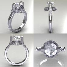 Ustar 8 мм круглые обручальные кольца с фианитом aaa для женщин