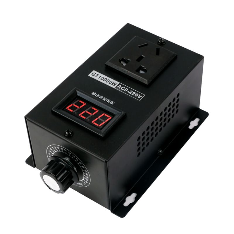 AC 220V 10000W SCR Electronic Voltage Regulator Temperature Speed Adjust Controller Dimming Dimmer Thermostat(China)