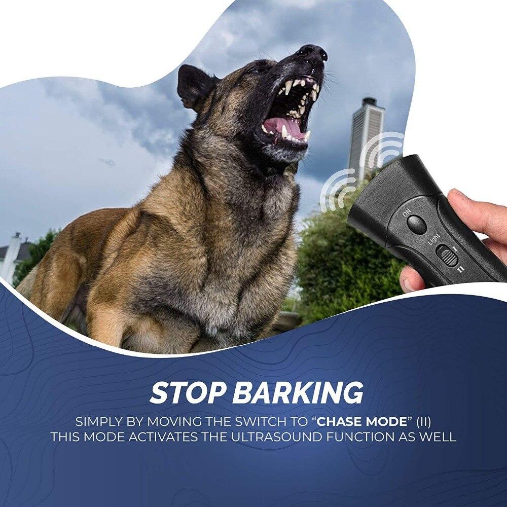 Pet Dog Repeller Anti Barking Stop Bark Training Device Trainer LED Ultrasonic Anti Barking Ultrasonic Without Battery-4