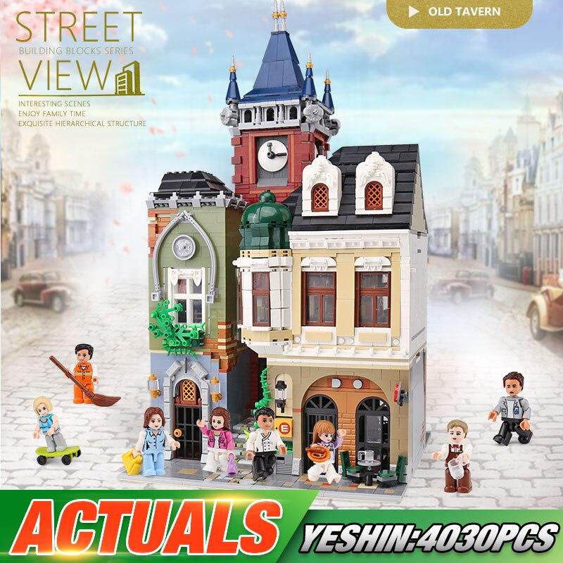 City Street Building Toys The Lepining MOC Old Town Pub Set Assembly Model Kids Christmas Toys Gifts Building Blocks Bricks Kits