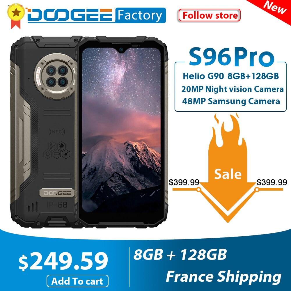 DOOGEE S96 Pro 20MP инфракрасный Ночное видение смартфон G90 Octa Core 8 ГБ + 128 ГБ 48MP круглый Quad Камера 6350 мА/ч, 6,22 ''мобильный телефон