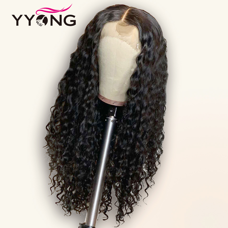 Yyong 13x4 Lace Front Human Hair Wigs With Baby Hair Indian Deep Wave Remy Human Hair Lace Front Wigs For Women Pre-Plucked