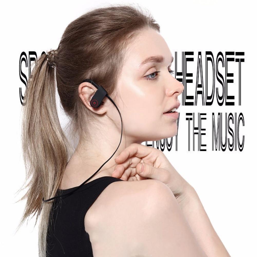 Купить с кэшбэком Original Wireless Bluetooth Headphones HiFi Stereo Wireless Earphones IPX4 Waterproof Sport Earbuds With Mic Ear Hook Headset