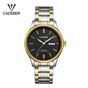 Image 4 - Мужские механические часы CADISEN 2019, роскошные брендовые автоматические механические часы, военные деловые водонепроницаемые мужские часы с календарем