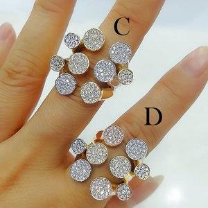 Image 1 - Godki luxo bagute cortar anéis em negrito com pedras de zircônia 2020 feminino festa de noivado jóias alta qualidade