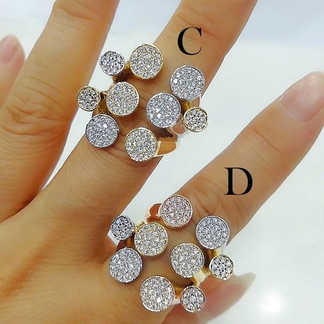 Godki luxo bagute cortar anéis em negrito com pedras de zircônia 2020 feminino festa de noivado jóias alta qualidade