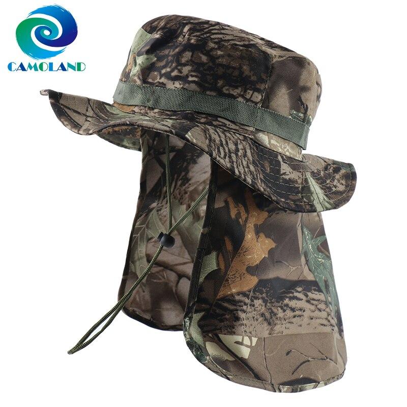 CAMOLAND, военные шапки Boonie с клапаном на шею, мужская и женская камуфляжная Панама, уличная рыбалка, Пешие прогулки, UPF 50 + солнцезащитные шапки|Мужские шляпы от солнца|   | АлиЭкспресс