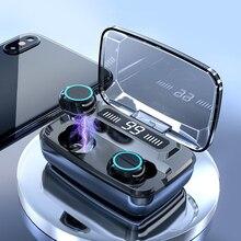 T11 TWS Senza Fili di Bluetooth del Trasduttore Auricolare 8D Surround Stereo Auricolari Auricolare Senza Fili Con 3300mAh Accumulatori e caricabatterie di riserva Display a LED Per I Telefoni