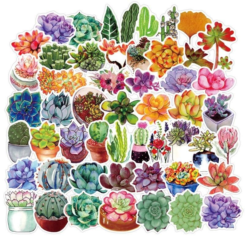 50Pcs/lot Succulent Cactus Mini Paper Sticker Decoration Stickers DIY for Craft Diary Scrapbooking Planner Kawaii Label Sticker