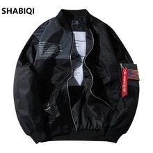 цена на 2020 Zip Up Men Jacket Fashion Brand Slim Fit Coats Male Casual  Jacket Mens Overcoat  American flag Jacket Plus size 4XL