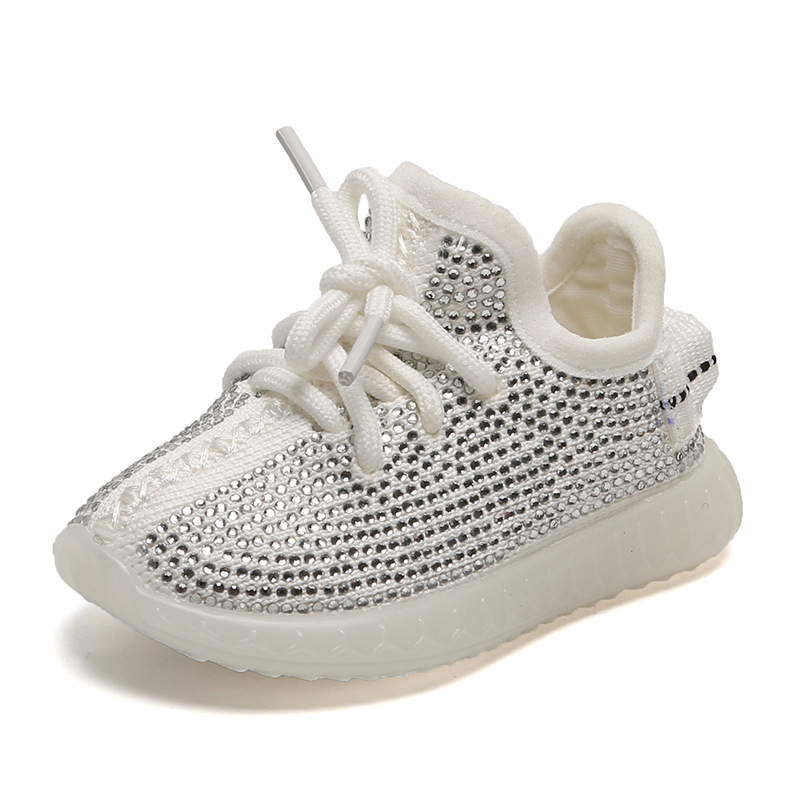 Sequines Studs Children Girls Shoes Baby Boys Sneakers Flattie Casual Kids Student Shoe Fashion Air Mesh Tenis Sports Dot