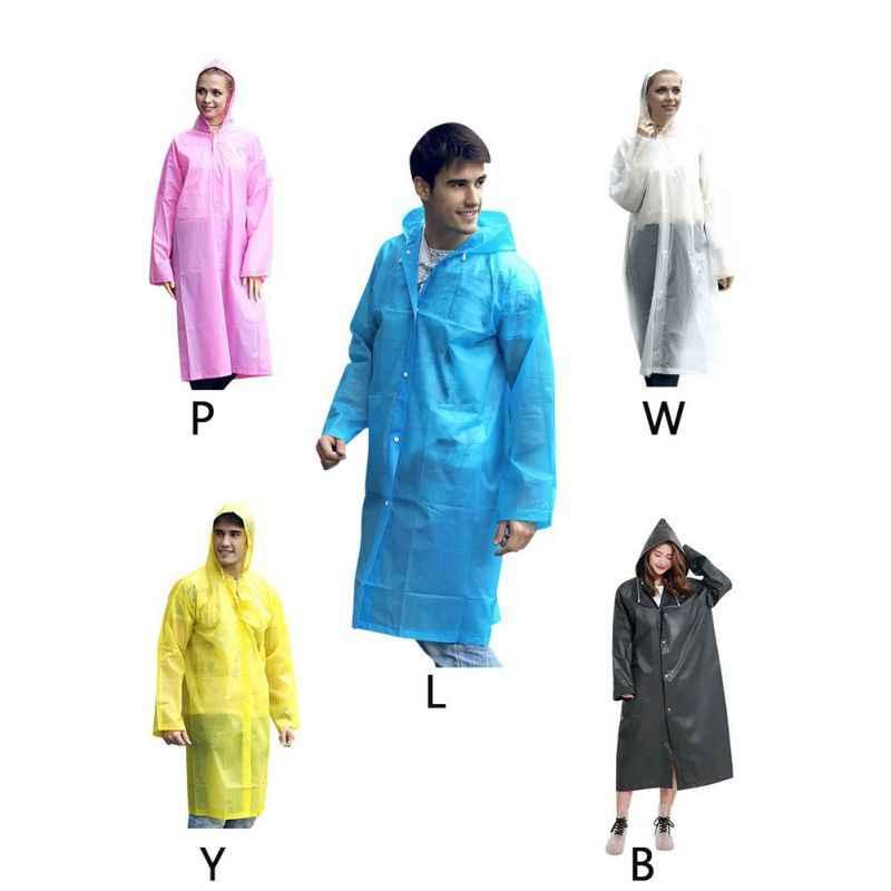 薄型防水ユニセックスレインジャケット夏レインコート外ウォーキング製品半透明レインウェア雨具 Supplie