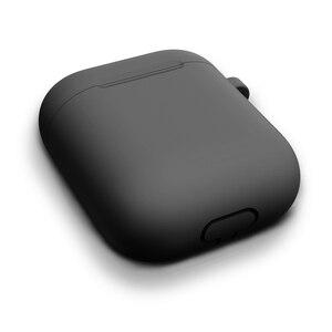 Image 4 - Siliconen Cover Met Haak Case Voor Apple Airpods Case Case Sticker Bluetooth Case Voor Air Pods 1/2 Case Oortelefoon Accessoires huid