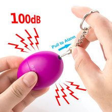 Самооборона сигнализация 100db яйцо Форма девушка Для женщин