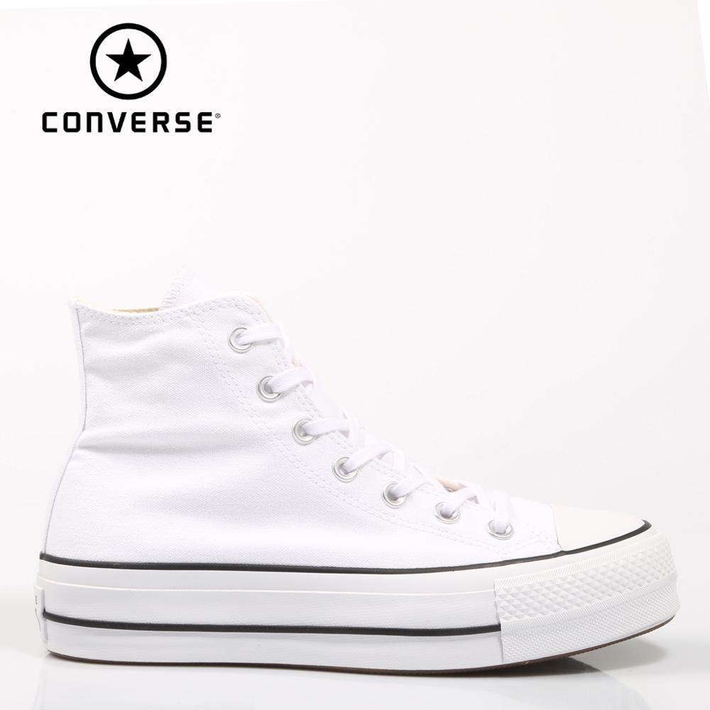 Converse Chuck Taylor All Star plate-forme propre haut blanc baskets femme chaussures décontracté 69224