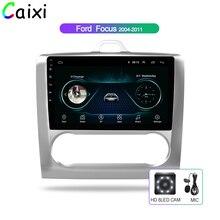 Автомобильный мультимедийный плеер CAIXI, 9 дюймов, Android 8,1, 2Din, радио, Gps, для Ford Focus Exi AT 2DIN 2004 2005 2006 2011, автомобильный DVd с dvr