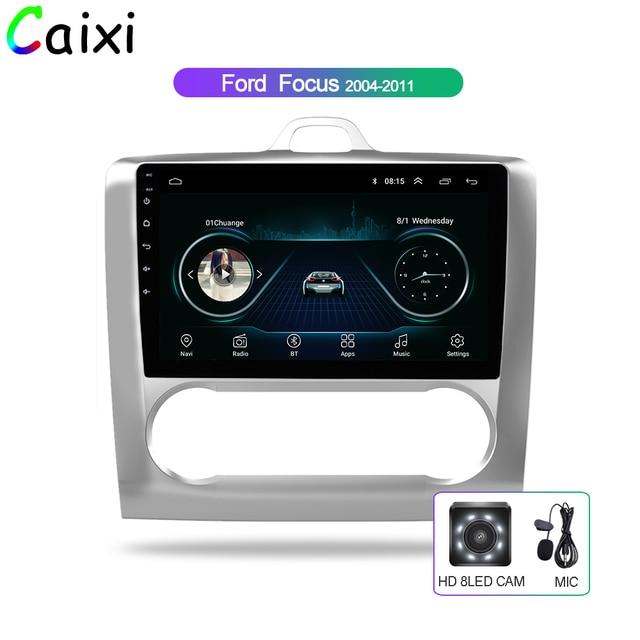 CAIXI 9 samochód Android 8.1 2Din Radio samochodowe odtwarzacz multimedialny Gps dla 2004 2005 2006 2011 Ford Focus Exi AT 2DIN samochodowy odtwarzacz DVd z dvr