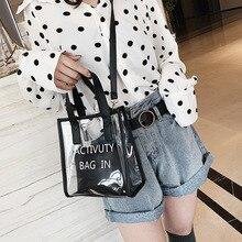 Korean Style Fashion Bags Ladies Luxury Bags Woman's Handbag Transparent Jelly Bag Women Crossbody Bag стоимость
