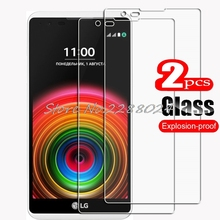 2PCS FOR LG X Power HD Tempered Glass Protective On  Xpower K220DS K220 LS755 US610 K450 Phone Screen Protector Film