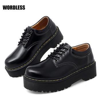 2021 nowe buty dla kobiet kwadratowy obcas obuwie damskie PU górne wodoodporne oddychające sznurowane modne buty zapatos de mujer tanie i dobre opinie WORDLESS podstawowe CN (pochodzenie) Med (3 cm-5 cm) Dobrze pasuje do rozmiaru wybierz swój normalny rozmiar Podręczne